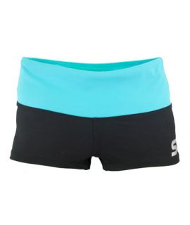 Supplex Shorts with Contrast Band-Black/Martinica-2XS