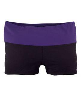 Supplex Shorts with Contrast Band-Black/Iris-2XS