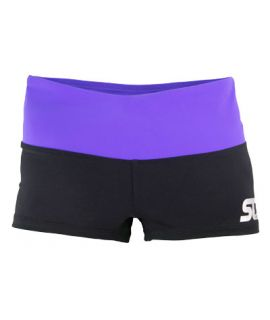 Supplex Shorts with Contrast Band-Black/Congo-2XS
