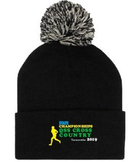 Queensland School Cross Country - Souvenir Beanie with Pom Pom 2019