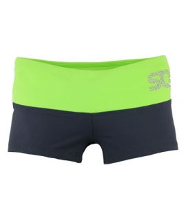 Supplex Shorts with Contrast Band (Kids)-Graphite/Neon Green-C2